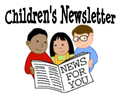 Monthly Childrens Newsletter link goes to PDF file